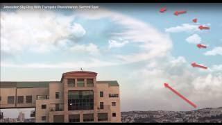 Misterioso sonido y anillo en el cielo, en Jerusalén  (La fiesta de las trompetas de los Judíos)